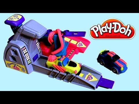 Launch - This is PlayDoh Demolition Derby. Mold and Design Race Cars, then smash and crash them. Comes with Car molding play base, launch pad, 2 auto frames, 2 car ma...