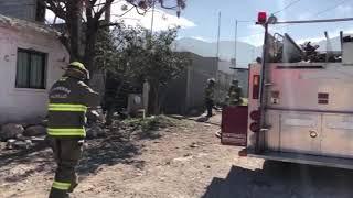 Incendio en casa habitación colonia Lomas de Zapaliname