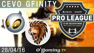Dignitas vs Selfless - CEVO Gfinity Pro-League S9 Finals - Groupe B