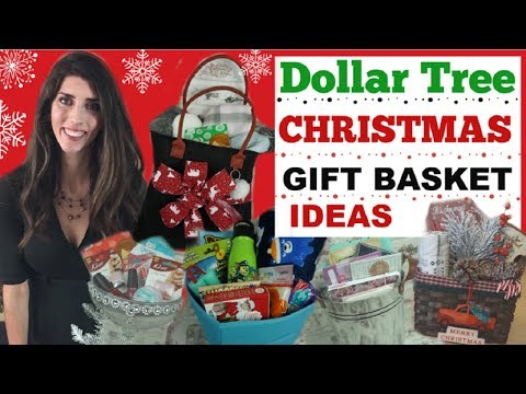 DOLLAR TREE CHRISTMAS GIFT BASKET IDEAS  DIY CHRISTMAS GIFT IDEAS  Momma From Scratch