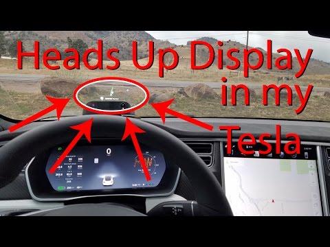 Heads Up Display in my Tesla Model S! Navdy