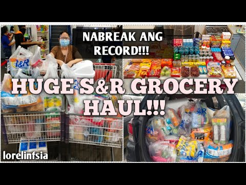 Huge SnR Grocery Haul!!! | Na-Break ang Grocery Shopping Record! | Monthly Grocery Haul |Lorelin Sia