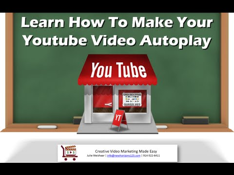Watch 'How To Make Your Youtube Videos Autoplay - YouTube'