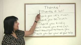 8 ways to say Thank You, Polite English