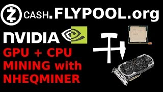 Now you can mine with your Nvidia GPU and CPU at the same time on flypool using the new patched version of nheqminer for Windows! AMD should be added shortly...