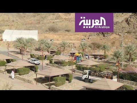 العرب اليوم - شاهد: بث مباشر من قرية ذي عين الأثرية في السعودية