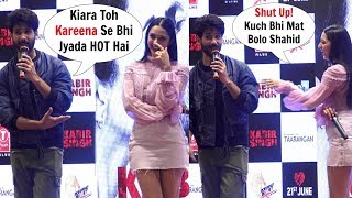 Kabir Singh Shahid Kapoor Makes Fun Of Kiara Advani At 'Mere Sohneya' Song Launch
