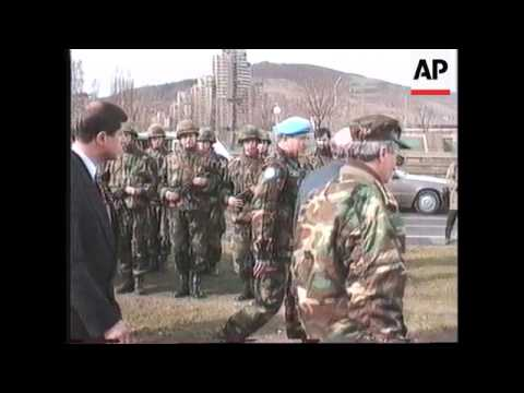 BOSNIA: TURKISH PRESIDENT SULEYMAN DEMIREL VISIT
