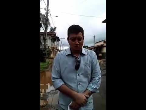 Petrolina de Goiás Jander José Pereira falando das conquistas do prefeito neto