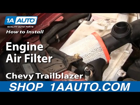 How To Install Replace Engine Air Filter Chevy Trailblazer GMC Envoy 02-09 1AAuto.com