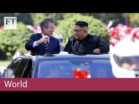 Pyongyang residents welcome South Korea's Moon Jae-in