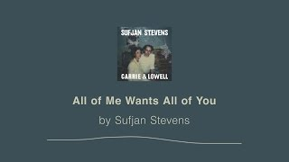 All of Me Wants All of You - Sufjan Stevens lyric video