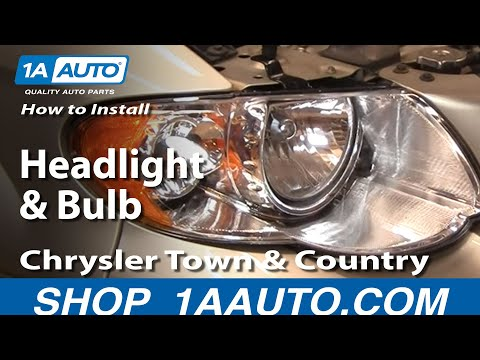 How To Install Replace Headlight and Bulb Chrysler Town and Country 05-07 1AAuto.com