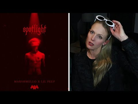 Mom REACTS to Marshmello x Lil Peep - Spotlight [Official Audio]