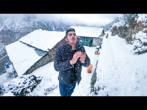 First Snowfall In My Village ☃️ Himalayan Winter
