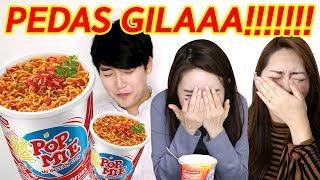 Video POPMIE PEDAS DOWER Reaksi orang Korea / MUKBANG spicy Indonesian noodle /불닭볶음면 라이벌 등장 MP3, 3GP, MP4, WEBM, AVI, FLV Desember 2018