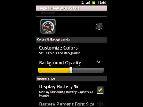 Video of Gauge Battery Widget 2014