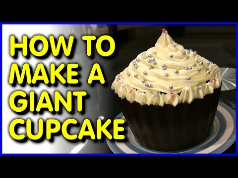 Giant Cupcake: How To Make One + UNIQUE Solid Chocolate Case