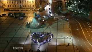 Флешмоб в поддержку сборной Украины