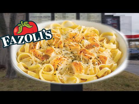 FAZOLI'S ☆Chicken Fettuccine Alfredo☆ FAST-FOOD ITALIAN Review!!!