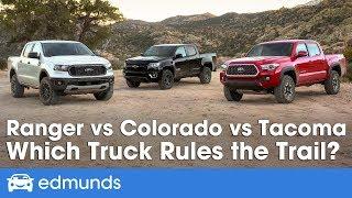Ford Ranger vs Toyota Tacoma vs Chevy Colorado: 2019 Truck Comparison Test | Edmunds