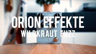 """My demo of the Orion Effekte Wildkraut Fuzz!*this is a sponsored video*http://www.orion-fx.com/www.guitarwash.de""""Wild? Kraut! Fuzz. – The Wildkraut Fuzz is all of that!The Silicon Fuzz is a development of the jubilee 10 Fuzz. I've added some controls to the former one-knob pedal, which make the Wildkraut Fuzz a versatile pedal.The sound is dry and bony, very outlandish. From highgain riffs to krautie one-note stuff – the Wildkraut Fuzz can do it. In some settings, the device even adds octave-down mess.The """"Höhen"""" (highs) and """"Tiefen"""" (lows) controls allow you to adjust the sound exactly to your equipment.""""Guitar: Gibson CS R4 Les PaulAmp: Tone King 20th Anniversary ImperialCables: Toaster Cables - http://www.toastercables.com/Patch cables: Mulder Audio - http://www.mulderaudio.com/Contact: livingroomgear@gmail.comhttps://www.patreon.com/livingroomgeardemoshttps://www.facebook.com/livingroomgearhttps://twitter.com/livingroomgearhttp://instagram.com/livingroomgeardemoshttp://ask.fm/livingroomgearhttp://livingroomgeardemos.tumblr.com"""