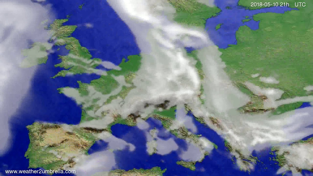 Cloud forecast Europe 2018-05-07