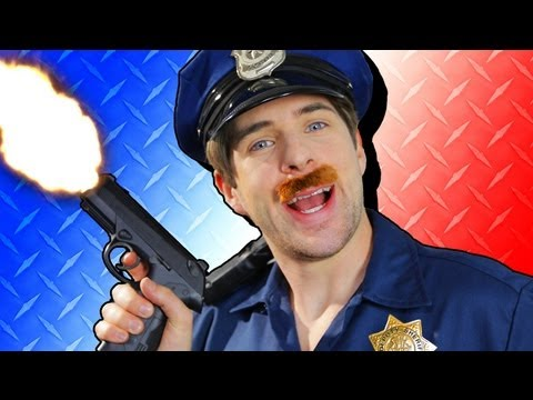 how - WATCH BLOOPERS AND A BONUS STEP: http://bit.ly/CopXTRAS WATCH THIS EPISODE EN ESPAÑOL: http://youtu.be/oS9GUmaWNd4 Sgt. Anous teaches you how to become a cop...
