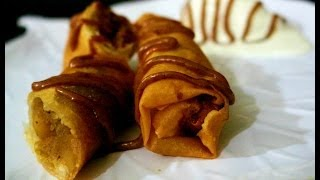 Apple Pie Spring Roll Recipe in Tamil