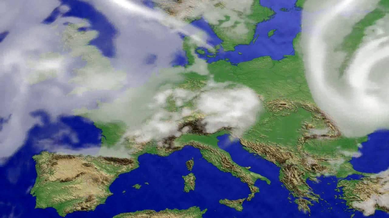 Cloud forecast Europe 2016-07-18