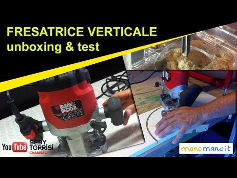 Usare la fresatrice verticale per legno - unbox & test - black & decker [manomano.it]