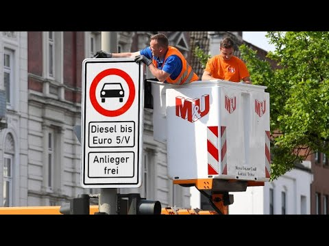 Für reine Luft: Hamburg verbannt Diesel-Fahrzeuge