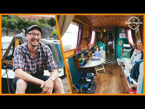 Living And Working Full-Time In A Floating Tiny Home - Narrow Boat Tour