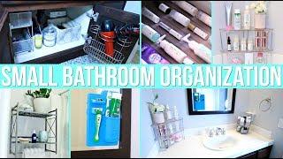 12 Easy Small Bathroom Organization Ideas!