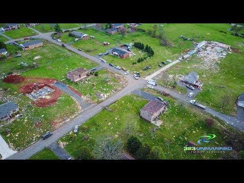Elon Tornado Aerial Footage – April 16, 2018