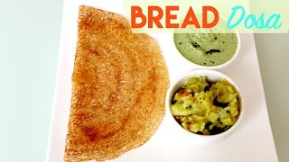 If you are looking for a quick fix instant breakfast/ lunch/ dinner try this easy Bread Dosa. They are soft and tastes great with coconut chutney/ Sambar. Enjoy these Instant Dosas.Ingredients:Bread Slices - 7 bigRawa/ Semolina (coarse) - 1/2 CupRice Flour - 1/4 CupChickpea flour (Besan) - 1 TbspSugar - 11/2 tspSalt - 1/2 tsp or to tasteOil - as required for making dosasProcess:Trim the edges of the bread slices and cut into bite size piecesInto a blender jar add bread pieces, shoji, rice flour, chickpea flour, sugar, salt and enough water to make semi thick batter.Gradually add water while grinding as we don't want to dilute the batter too much.Preheat dosa taw on medium heat till it is moderately hot.Add few drops of oil and sprinkle water. Spread oil evenly with a cloth or paper towel.Add two ladlefuls of batter and spread gently in circular motion.Add few drops of oil all over the dosa and cook till golden underneath.Fold dosa at center and remove from the pan.Serve hot with chutney or Sambar. Enjoy!===================================================For more video recipes on YoutubeVisit my Channel:https://www.youtube.com/user/sruthiskitchenand Click here to subscribe: www.youtube.com/subscription_center?add_user=sruthiskitchen===================================================For Kitchen OrganizationBamboo Baskets: http://amzn.to/2kRfNBlLid Organizer: http://amzn.to/2l2oYB1Expandable Cabinet Shelf: http://amzn.to/2lt6BGASpice Liners: http://amzn.to/2kerKPmBall Jars: http://amzn.to/2l2GODTOxo Plastic Storage Containers: http://amzn.to/2kYk2O1Cabinet Liners: http://amzn.to/2kevbFNRice and Atta Storage Canisters: http://bit.ly/2kv3mtVWooden Cutlery Drawer: http://amzn.to/2kesOTtCutlery Organizer:http://amzn.to/2kRhA9rMost Used Tools:EndGrain Cutting Board: http://amzn.to/2lxYMvaKnives: http://amzn.to/2keduqcAll Clad Frying Pan 12 inch with lid: http://amzn.to/2l2Jsd0All Clad Fry Pan 10 inch: http://amzn.to/2kYsxIHAll Clad Fry Pan 8 inch: http://amzn.to/2kelh7iAll Clad 1.5 quart sauce pan: http://amzn.to/2lzXZdLAll Clad 3.5 quart Sauce Pan: http://amzn.to/2kRtPmgRachel Ray Non Stick Pan Set:http://amzn.to/2kRy9ChTool Set: http://amzn.to/2kRwmghAll Clad 2 Quart Saute Pan: http://amzn.to/2kRFIJ1Cuisinart Fry Pan: http://amzn.to/2l2AKeLCuisinart 1.5 quart sauce pan: http://amzn.to/2kRA6PcAll Clad .25 quart sauce pan for Tadka/ Tempering: http://amzn.to/2kYjSWUCuisinart Mixing bowls: http://amzn.to/2l2F1iqGlass mixing bowls:http://amzn.to/2lzWkF0Joseph Joseph Utensil Tool set: http://amzn.to/2j8PYLkSilicone Kitchen Utensil Set: http://amzn.to/2kJOF5pKitchenaid Kitchen Tool Set: http://amzn.to/2l2yh3XKitchen Strainer: http://amzn.to/2l2vEPGKitchenaid Hand Mixer: http://amzn.to/2l2E3CLBaking Pans Set: http://amzn.to/2lzNlUBNutriBullet(for chutneys, milkshake, smoothie, tomato puree) - http://amzn.to/2l2sjzUSecura Blender(spice grinder) -http://amzn.to/2lzXws7Breville Boss Blender (for green smoothie) - http://amzn.to/2lAcJJFLe Creset Cast Iron Balti Pan: http://amzn.to/2lzNcR2Silpat: http://amzn.to/2kREhdTJoin me on Facebook:http://www.facebook.com/shruthiskitchenTwitter: http://twitter.com/sruthiskitchenMusic: Hoedown by Audionautix is licensed under a Creative Commons Attribution license (https://creativecommons.org/licenses/by/4.0/)Artist: http://audionautix.com/