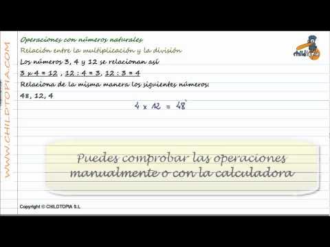 Vídeos Educativos.,Vídeos:Relación multiplicar / dividir 1
