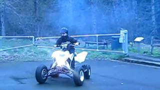 2. 2007 Suzuki LTR 450 Quadracer burnout