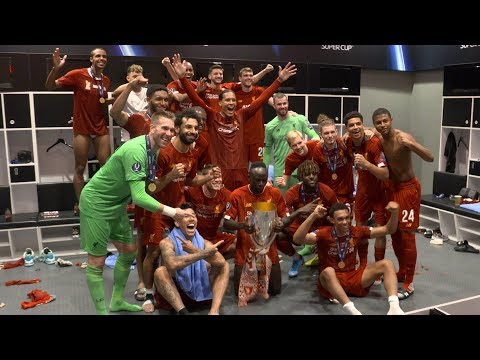 Video: Inside the dressing room for Liverpool's Super Cup celebrations | EXCLUSIVE FOOTAGE from Istanbul