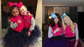 Rebecca Zamolo and I (Chantelle Paige Soutas) dress up like my niece and her bestie, Everleigh Rose Soutas and Ava Marie...