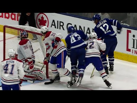 Video: Marleau beats Montoya from behind red line