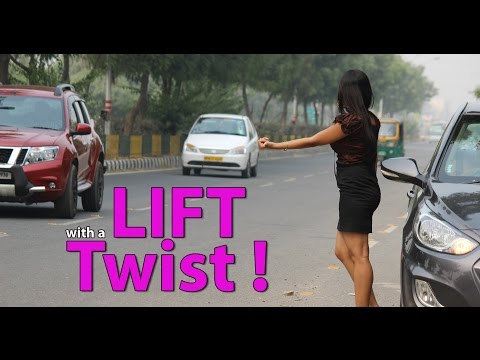 Girl Asked Strangers To Give Her A Lift : Twist And Hilarious video