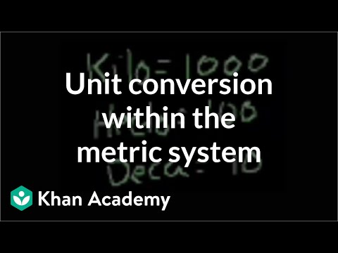 conversion - Learn more: http://www.khanacademy.org/video?v=w0nqd_HXHPQ Metric unit conversion.