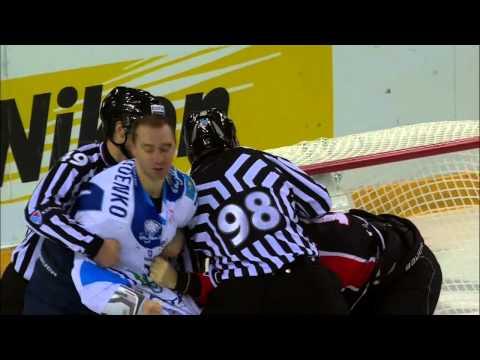 Бой КХЛ: Лемтюгов VS Руденко / KHL Fight: Lemtyugov VS Rudenko (видео)