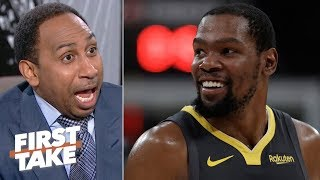 I'll carry his bags, clean up his locker! - Stephen A. begs for KD to join the Knicks | First Take