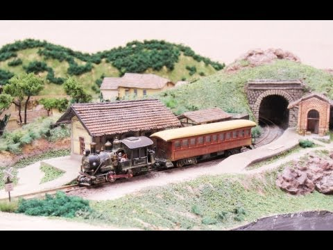 z scale model train layout - A miniature Z Scale Train Layout, made by Ron Vaz in Brazil. Scratch built Baldwin Locomotive as well as a passenger car. The Layout is based on small towns ...