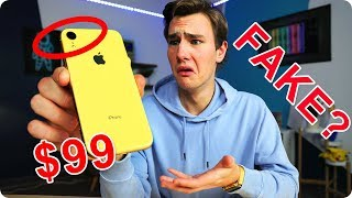 Video $99 Fake iPhone XR - How Bad Is It? MP3, 3GP, MP4, WEBM, AVI, FLV Februari 2019