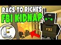 FBI KIDNAP! - Unturned Roleplay Rags to Riches #65 (Gets Put Into A Burning Cage)
