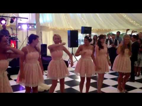 Bridesmaids Surprise Flash Dance gift to The Bride
