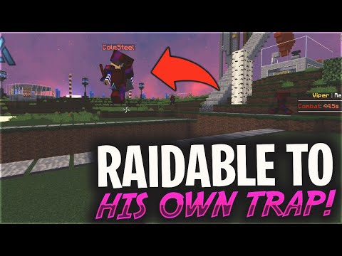 HIS OWN TRAP MADE HIM RAIDABLE IN 5 SECONDS... | Minecraft HCF
